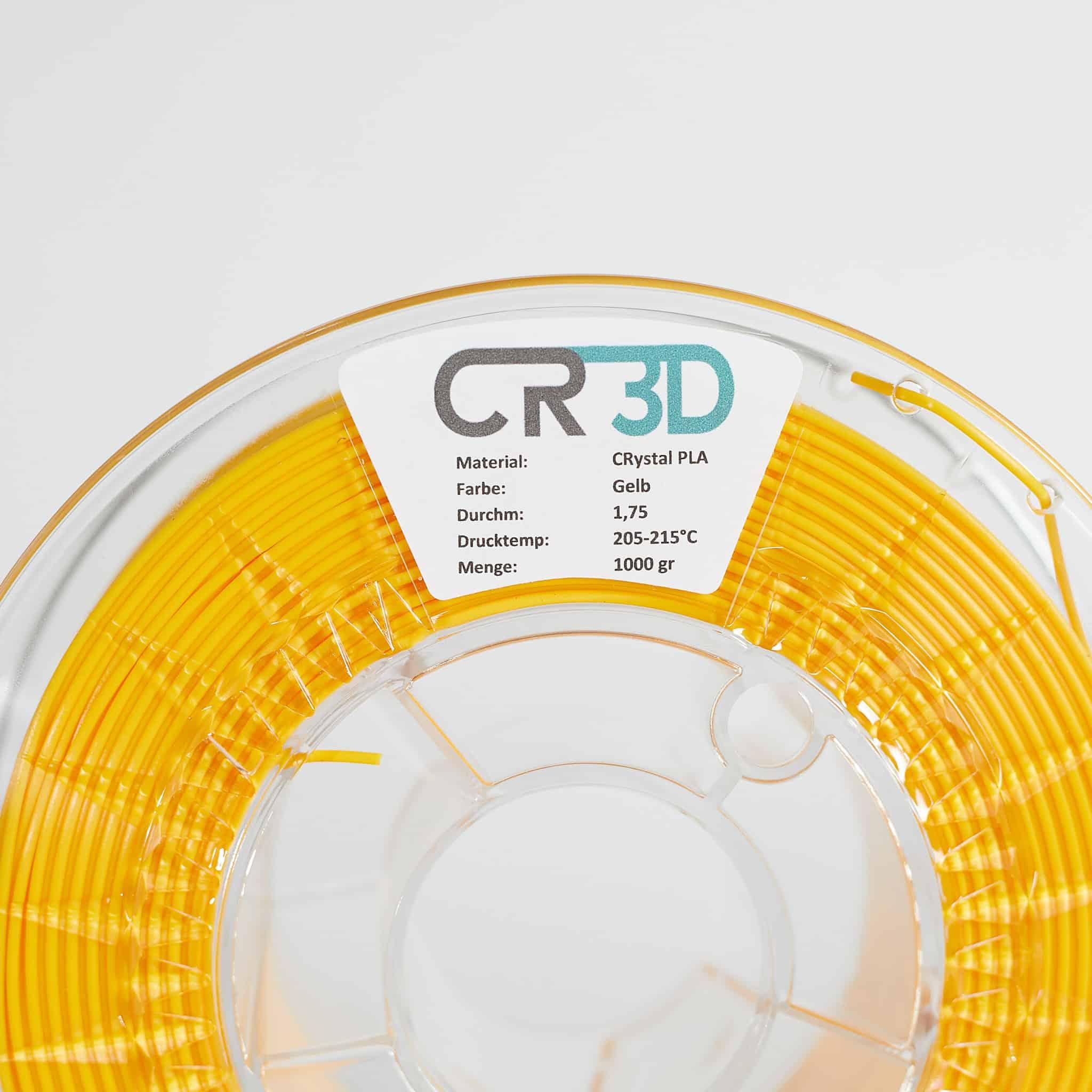 Label – CRystal PLA Gelb