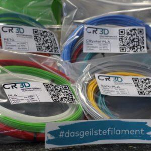 CR-3D Filamentsample-Paket nah